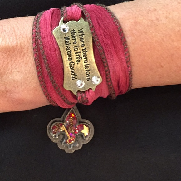 cb70a6465 Jewelry   Wrap Wrist Bracelet With Fleurdelos Charm   Poshmark